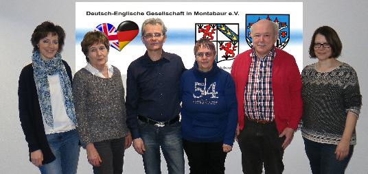 Vorstand 2016 der Deutsch-Englischen Gesellschaft Montabaur. e.V.